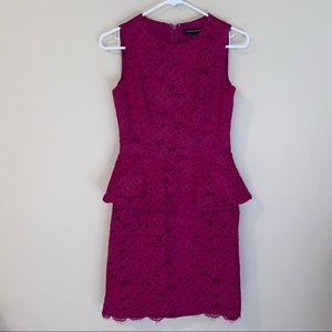 Cynthia Steffe lace peplum dress, size 4